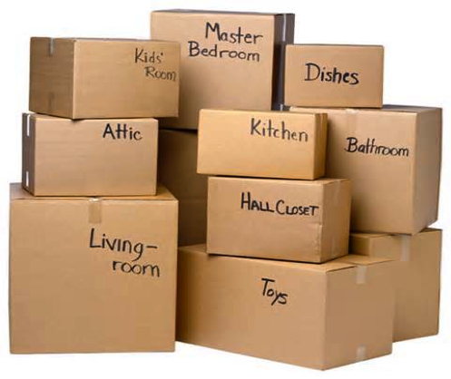 Boxes in Carpinteria Self Storage Facility